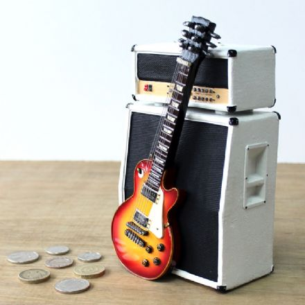 Money Box Amp and Sunburst Electric Guitar Vintage 2621648